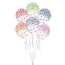 6x Multicolor Confeti Estampado Globos Boda Cumpleaños Decoración Fiesta
