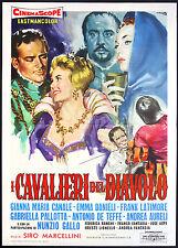 CINEMA-manifesto I CAVALIERI DEL DIAVOLO canale, danieli, latimore, MARCELLINI