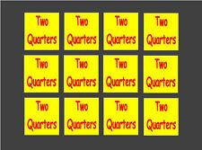 12 Two Quarters Vinyl price stickers bulk vending Vendstar other