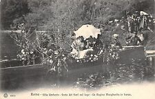 8963) ROMA VILLA UMBERTO FESTA DEI FIORI SUL LAGO LA REGINA MARGHERITA IN BARCA.