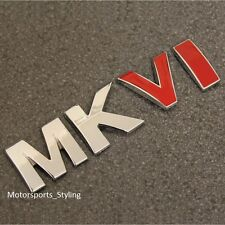 MKVI Chrome Red Boot Tailgate Emblem Badge Decal Sticker MK6 Mark 6 Logo VW *