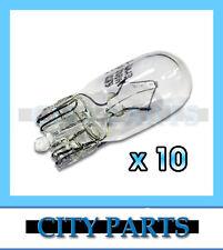 NEW AUTOMOTIVE LIGHT WEDGE PARK BULBS GLOBES T10 12V W5W CLEAR HALOGEN 10PCS