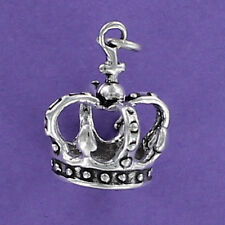 Coronation Crown Charm Sterling Silver for Bracelet Royal Queen King Jewels
