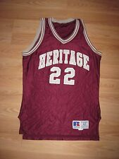 Russell Athletic Heritage High School Newport News Game Used Basketball Jersey