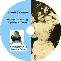 128 old books - NORTH CAROLINA History & Genealogy on DVD