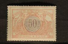 1902 - 1914 Belgium Railway - Sc# Q36, 50c Mint Hinged