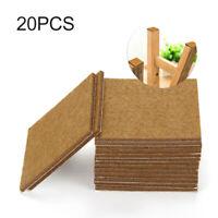 20pc 70mm Self Adhesive Felt Furniture Pads Wood Floor Protectors Chair Leg Feet