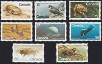 Canada 1977-1981 = Endangered Wildlife = Falcon Cougar Whale Bison ...= MNH