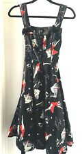 HELL BUNNY Pinup Girl Rockabilly Clothing Martian Dress size XS 50'S Style VLV