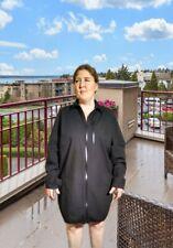 ASOS Black Zipper Front Long Sleeve Shirt Dress Size XL