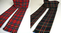 Tartan Plaid Check Scarf 100% Cotton Hand-made Warm Lightweight Red Green Blue