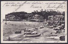 SAVONA CELLE LIGURE 78 VILLE ai BOTTINI - SPIAGGIA Cartolina viaggiata 1947