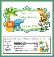 15 Baby Jungle Animals Baby Shower Candy Bar Wrappers