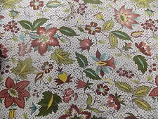 WTW Fabric Flowers of India Waverly Vintage Folk Floral Garden Deco BTY Quilt