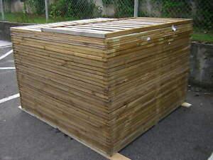 Sichtschutzelemente Holz 180x180