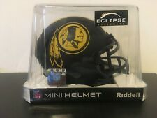 WASHINGTON REDSKINS NFL Riddell SPEED Mini Football Helmet NEW BLACK ECLIPSE
