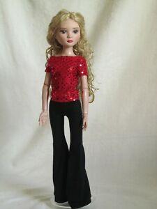 "red top & black pants for 16"" Ellowyne Wilde Robert Tonner handmade by JEC"