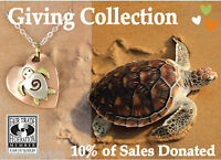 Save Sea Turtles Heart Pendant ONLY for Necklace Far Fetched Pendant -Gift Boxed