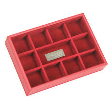 Red & Red Mini 11 Section Stacker Jewellery Box