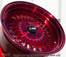 15X8 +25 F1R F01 4X100 RED WHEEL FIT CRX DEL SOL FIT CIVIC SI EK6 EK9 JDM MIATA