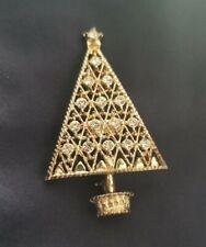 Vintage EISENBERG ICE Christmas Tree Brooch Pin Diamante encrusted