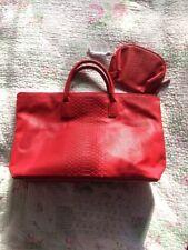 ESTEE LAUDER Faux Leather Croc Print XL Bag/ Tote/ Shopper+ Make Up Bag. NWOT