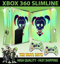 XBOX 360 SLIM STICKER HARLEY QUINN SUICIDE SQUAD LOGO HARLEEN SKIN + PAD SKIN