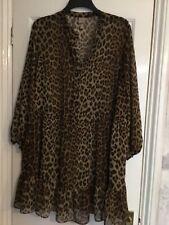 H&M Vestido Estampado De Leopardo Talla L