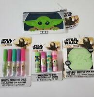 Star Wars The Mandalorian The Child Baby Yoda Makeup Bag, Lip Balm, Gloss, Bomb