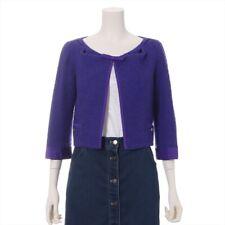 Louis Vuitton RW062A Tweed Collarless Jacket 38 Ladies Pap
