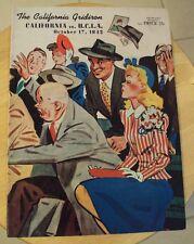 RARE 1942 California Gridiron FOOTBALL Program~CA Berkeley vs UCLA~Ephemera~NICE