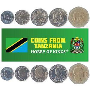 SET OF 5 COINS FROM TANZANIA: 50 SENTI, 1, 5, 10, 20 SHILLINGI. 1987-1993