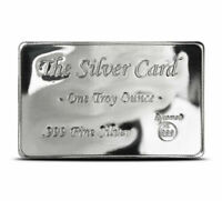 The Silver Card 1 Troy Oz .999 Fine BU Pyromet Fits in Your Wallet Ingot Card