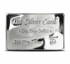 The Silver Card 1 Troy Oz .999 Fine BU Pyromet Fits in Your Wallet Ingot Card
