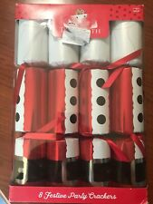 "NEW TOM SMITH BOX OF 8  FESTIVE SANTA SUIT PARTY CRACKERS 12"" BRAND NEW/UNOPENED"