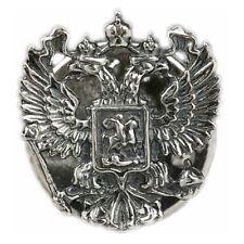 Russian Federation Emblem Coat Arms Pin Badge Factory Souvenir Silver Plated