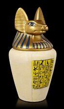 Großer Anubis Kanopenkrug   Tierurne, Haustier-Urne, handbemalt, H 27 cm