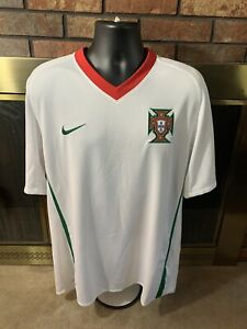 Nike PORTUGAL 2010/12 Away Soccer Jersey Football Shirt FPF Camisa Mens Size XL