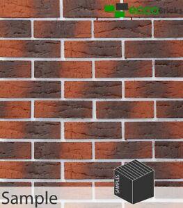 SAMPLE - Rustic Sienna Multi Red Brick Slip - Extruded Brick Slip
