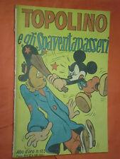 ALBO D'ORO 1948 n° 125-TOPOLINO GLI SPAVENTAPASSERI -originale mondadori-DISNEY-