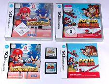 Spiele: MARIO & SONIC + MARIO VS DONKEY KONG für Nintendo DS + Lite + 3DS + XL