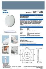 Bemis 200Slowt-114 Round Plastic Slow Close Toilet Seat - Denim Blue