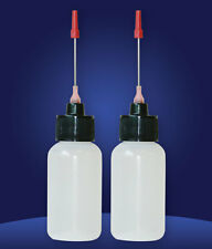 Two 1 OZ bottles with needle tip dispenser, pharmaceutical grade quality!!