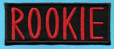 """Ghostbusters Name Patch  [iron on]  -  """"ROOKIE""""  [Ghostbusters 1 style letters]"""