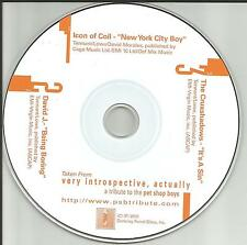 PET SHOP BOYS tribute Sampler DAVID J PROMO CD Single Bauhaus Love and Rockets