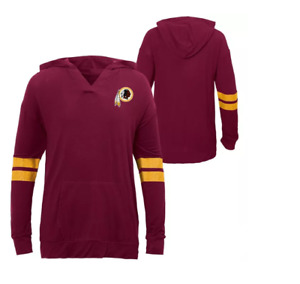 NFL Washington Redskins Girls' Dark Lightweight Hoodie - NWT - XS - Red - C227