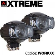 Kit 2 faretti da moto Xtreme universali  WORK/X - vetro lenticolare - presa usb