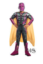 Marvel Avengers Vision Costume Deluxe Costume   * Size 6-8  *