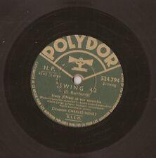 """10"""" - 78 RMP - FREDY JUMBO - Swing 42 / Bougie-Woogie - POLYDOR 524.794"""