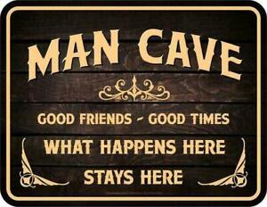 Männer Funschild - Man Cave Männerhöhle - Sprüche Schilder Blechschild Schild